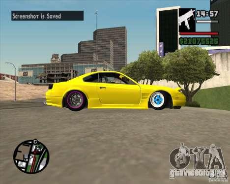 Nissan S330SX Japan SHK style для GTA San Andreas вид изнутри