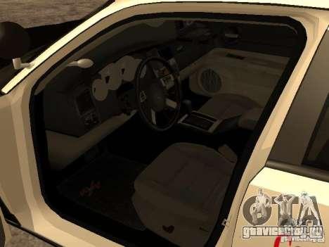 Dodge Charger RT Police для GTA San Andreas вид сзади