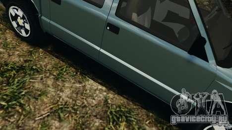 Chevrolet S-10 Colinas Cabine Dupla для GTA 4 вид снизу