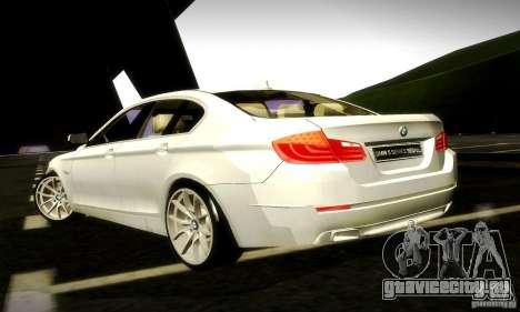 BMW 550i F10 для GTA San Andreas вид изнутри