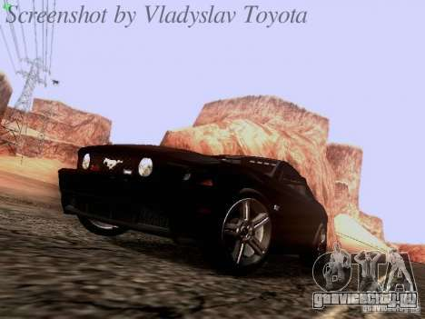 Ford Mustang GT 2011 Unmarked для GTA San Andreas вид слева