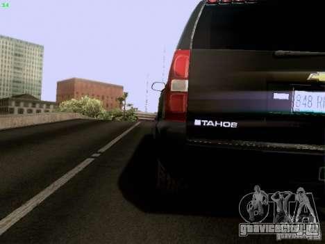 Chevrolet Tahoe 2009 Unmarked для GTA San Andreas вид изнутри