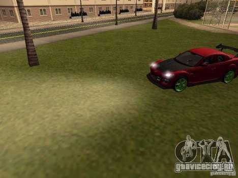 Mazda RX-8 R3 Tuned 2011 для GTA San Andreas вид сверху