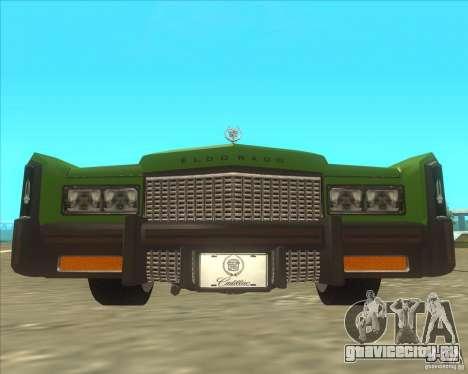 Cadillac Eldorado для GTA San Andreas вид справа