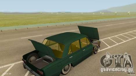 ВАЗ 2101 Low & Classic для GTA San Andreas вид изнутри