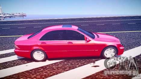 Mercedes-Benz S600 для GTA 4 вид сзади