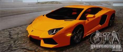 Lamborghini Aventador LP700-4 Final для GTA San Andreas салон