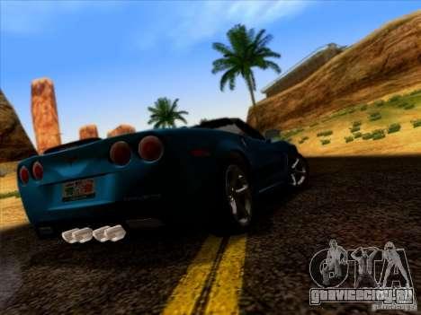 Chevrolet Corvette C6 Convertible 2010 для GTA San Andreas вид справа