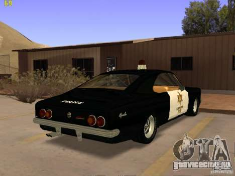 Chevrolet Opala Police для GTA San Andreas вид слева