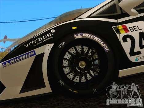 Lamborghini Gallardo LP560-4 GT3 V2.0 для GTA San Andreas вид изнутри