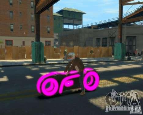 Мотоцикл из Трон (розовый неон) для GTA 4 вид слева