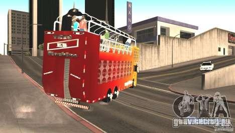 Scania 93H 6x2 Trio Eletrico для GTA San Andreas вид справа