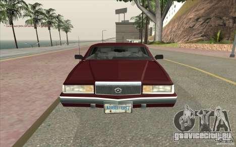 Chrysler Dynasty для GTA San Andreas вид справа