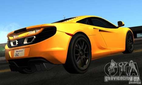 McLaren MP4-12C TT Black Revel для GTA San Andreas вид слева