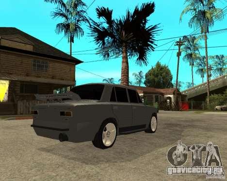 ВАЗ 2101 Hard tuning для GTA San Andreas вид сзади слева