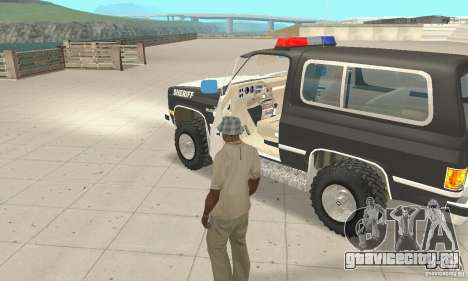 Chevrolet Blazer Sheriff Edition для GTA San Andreas вид изнутри