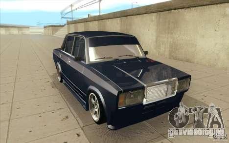 ВАЗ-2107 Lada Street Drift Tuned для GTA San Andreas вид сзади