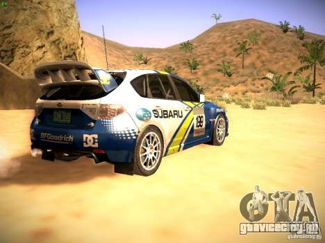 Subaru impreza Tarmac Rally для GTA San Andreas вид справа