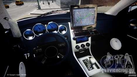 Dodge Charger NYPD Police v1.3 для GTA 4 вид сзади