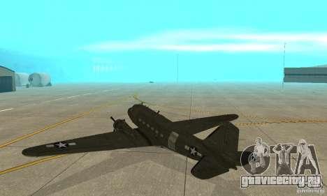 C-47 Skytrain для GTA San Andreas вид справа