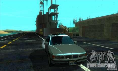 BMW 750i E38 для GTA San Andreas вид сзади