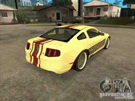 Ford Mustang Jade from NFS WM для GTA San Andreas вид справа