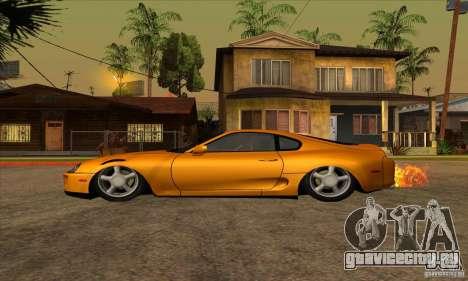Toyota Supra Drift для GTA San Andreas вид слева