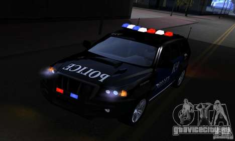 NFS Undercover Police SUV для GTA San Andreas вид сзади