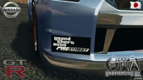 Nissan GT-R 35 rEACT v1.0 для GTA 4 вид изнутри