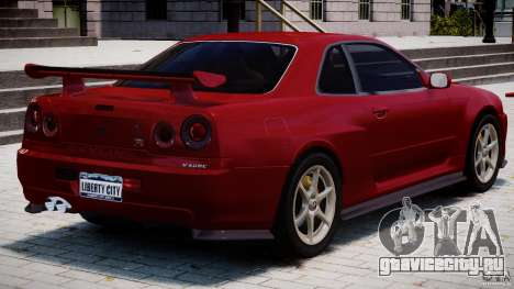 Nissan Skyline GT-R 34 V-Spec для GTA 4 салон
