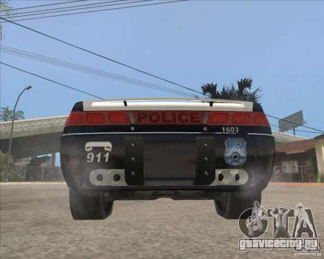 Police NFS UC для GTA San Andreas вид сзади