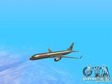 Boeing 757-200 American Airlines для GTA San Andreas вид сверху