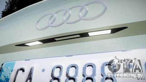 Audi RS6 2010 для GTA 4 вид изнутри