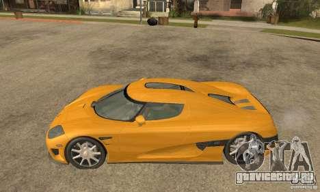 Koenigsegg CCX (v1.0.0) для GTA San Andreas вид слева