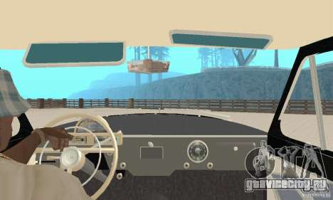 ГАЗ-21 Волга для GTA San Andreas вид сзади