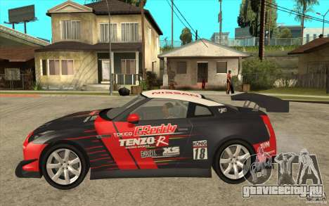 Nissan GT R Shift 2 Edition для GTA San Andreas вид сзади слева