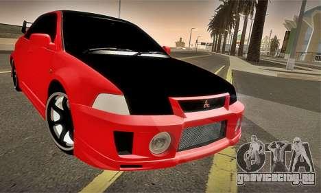 Mitsubishi Lancer Evolution 6 для GTA San Andreas вид сверху