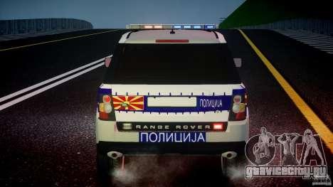 Range Rover Macedonian Police [ELS] для GTA 4 колёса