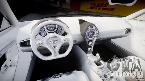 Ford GR-1 для GTA 4 вид сзади