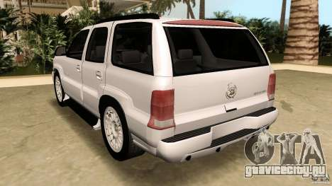 Cadillac Escalade для GTA Vice City вид сбоку