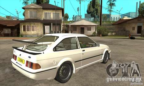 Ford Sierra RS500 Cosworth 1987 для GTA San Andreas вид изнутри