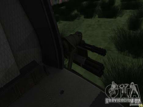 Вертолёт huey из call of duty black ops для GTA San Andreas вид сзади слева