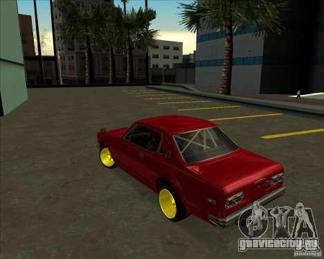 Nissan Skyline GTR 2000 для GTA San Andreas вид сзади