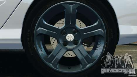 Peugeot 308 GTi 2011 Police v1.1 для GTA 4 вид снизу