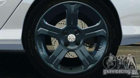 Peugeot 308 GTi 2011 Taxi v1.1 для GTA 4 вид снизу
