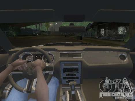 Ford Mustang 2011 GT для GTA San Andreas салон