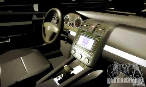 Volkswagen Golf Police для GTA San Andreas вид изнутри