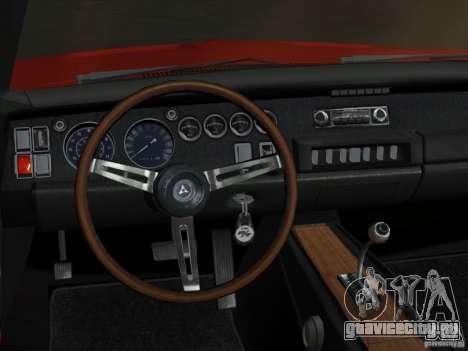 Dodge Charger 426 R/T 1968 v2.0 для GTA Vice City вид изнутри
