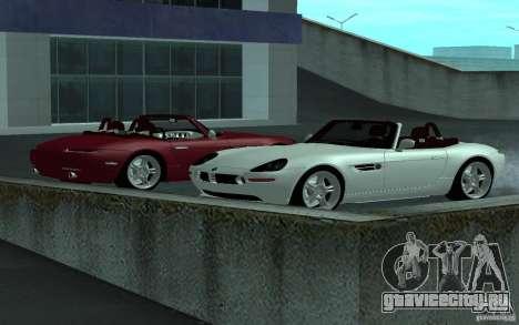 BMW Z8 для GTA San Andreas вид сзади