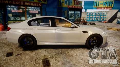 BMW M5 F10 2012 для GTA 4 вид изнутри